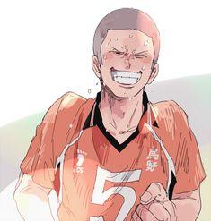 happy tanaka makes my day better tbh Haikyuu Ships, Haikyuu Fanart, Haikyuu Anime, Tanaka Haikyuu, Haikyuu Karasuno, Haikyuu Characters, Anime Characters, Akira, Tanaka Ryuunosuke