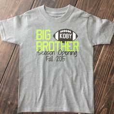 Big Brother Shirt #bigbrother #pregnancyannouncement #pregnancy #siblingshirt #siblings #football #sports #personalizedboyshirt #brother #sister #babysister #babybrother