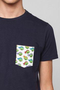 Junk Food Ninja Turtle Pocket Tee