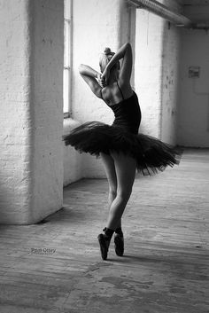 Dancer in old warehouse space