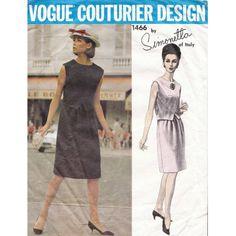 Vogue Couturier Design dress 60s vintage sewing pattern by Simonetta Vogue 1466
