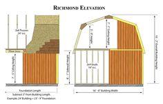 Best Barns Richmond 16x32 Wood Storage Shed Kit