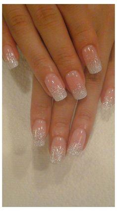 Vintage Wedding Nails, Winter Wedding Nails, Simple Wedding Nails, Wedding Nails For Bride, Bride Nails, Wedding Nails Design, Prom Nails, Winter Nails, Glitter Wedding