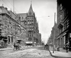 """The Queen City circa 1905. """"Elm Street, Cincinnati, Ohio I think that is the building I used to live in on the right !"""
