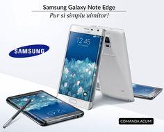Smartphone inovator de la Samsung: Galaxy Note Edge, cu ecran curbat . Îl găsești acum la Quickmobile