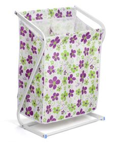 Bonita's Z-Forma Laundry Sorter makes separating dark and light clothing before laundry easier than ever with its dual pocket design. Features a sturdy steel frame and moisture resistant fabric with a trendy floral print that adds fun style to your home. Small Laundry Rooms, Laundry Room Storage, Wicker Laundry Hamper, Laundry Baskets, Laundry Center, Contemporary Cabinets, Aesthetic Beauty, Light In The Dark, Cleaning Wipes