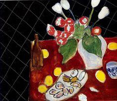 Анри Матисс «Тюльпаны и устрицы на черном фоне»