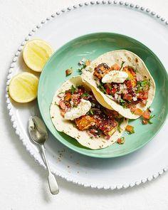 Peri-Peri Haloumi Tacos. We've combined spicy, smokey haloumi with the zippy goodness of fresh tomatoes, lemon and parsley– I Quit Sugar