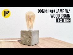 Hello you! This Instructable is about how to make a concrete lamp with a wood grain texture. Have fun watching & reading aaand let's go!