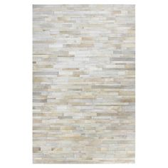 Anderson Leather Rug in White at Joss & Main