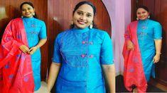 Churidar Designs, Polo Neck, Sari, Stitching, Youtube, Fashion, Saree, Costura, Moda