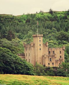 Dunvegan Castle in Scotland, UK
