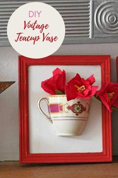 A step by step tutorial on how to make a unique DIY wall vase from repurposed broken China tea cups. They would make a gorgeous handmade gift for Mothers day. Faux Flowers, Diy Signs, Wall Vase, Glass Plate Flowers, Flower Wall, Diy Vintage, Diy Wall, Recycled Items, Flower Plates