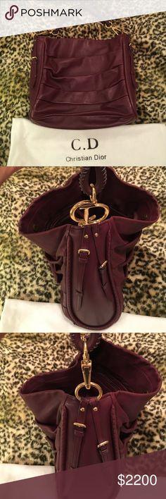 Christian Dior shoulder burgundy bag Christian Dior burgundy color ., trendy  color for the fall ..14X5.5X12.5 don't like the price make an offer 😄 Christian dior Bags Shoulder Bags