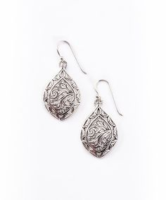 Take a look at the Silver Filigree Drop Earrings on #zulily today!