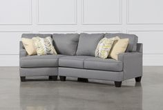 Best Belleview Graphite 2 Piece Sectional W Raf Cuddler Dream 400 x 300