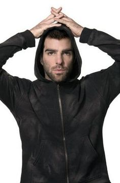 """Zachary Quinto will be playing the """"top gun"""" space pilot aboard a massive spacecraft carrier in my forthcoming scifi adventure."""