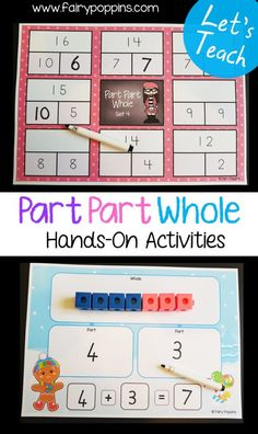 Hands-on part part whole activities. Addition and subtraction fact family activities – Fairy Poppins