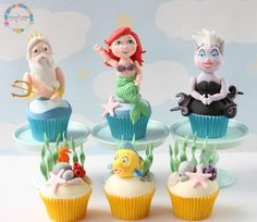 Little Mermaid Cupcakes by The Clever Little Cupcake Company