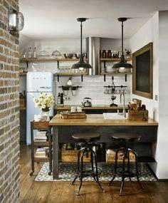 Virlova Interiorismo: [Interior] Loft industrial vintage en un ático de estructura sorprendente