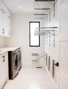 42 Simple and Inspiring Ideas for Small Laundry Room Design - Function Does Not . 42 Simple and Inspiring Ideas for Small Laundry Room Design – Function Does Not Have to Be Perfor Outdoor Laundry Rooms, Farmhouse Laundry Room, Small Laundry Rooms, Laundry Room Organization, Organization Ideas, Storage Ideas, Basement Laundry, Laundry Closet, Utility Closet
