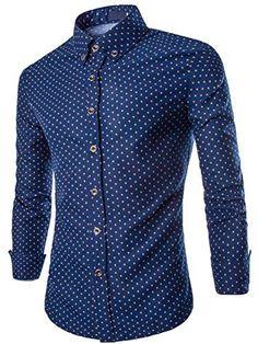 Neleus Mens Slim Fit Long Sleeve Button Down Shirts