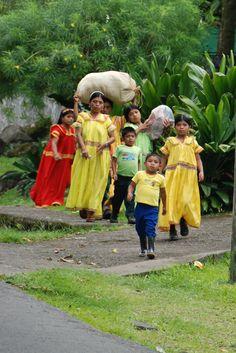Indígenas de la comarca Nogbe Bublé./.Panamá.