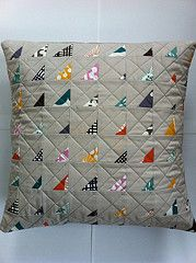tiny snips - uses those little bits you just can't bear to throw! Shared by www.nwquiltingexpo.com #nwqe #pillow #sew #quilt