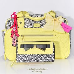 Baby Shower Gift idea! Betsey Johnson Be Mine Weekender Tote Baby Diaper Bag & Wallet Set NWT #BetseyJohnson #DiaperBag
