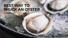 Tips & Tricks: Best Way to Shuck an Oyster ~ By opening the oyster along the bottom right-hand side near the front, we can easily cut away the adductor muscle that attaches the meat to the top shell, then gently remove that top. If the traditional method is the equivalent to prying a door open with a crowbar, this method is akin to picking a lock. #Oyster_Shucking #Oysters