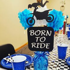 Dirtbike centerpieces