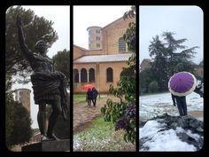 Living Ravenna: Basilica di Sant'Apollinare in Classe, Ravenna: oggi imbiancata dalla neve.
