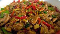 Wieprzowina po chińsku z ananasem Food Design, Kung Pao Chicken, Food And Drink, Chinese, Beef, Cooking, Ethnic Recipes, Kitchen, Impreza