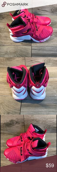 787b7eccb04 LEBRON JAMES PINK BASKETBALL SHOES Very good condition No flaws these are  womens size so it