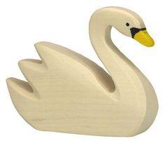 Wooden Swimming Swan