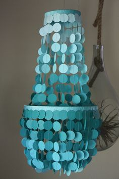 love this ombre paper chandelier for Prom Dinner and I can DIY it