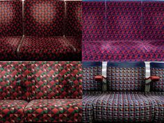 A photographic study of the London Underground's / Tube seat.