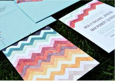 adorable chevron invitations