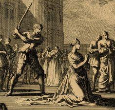 A depiction of Anne Boleyn's execution by Jan Luyken, c.1664-1712.