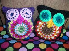 Handmade crochet owl plush in 2 different colourways  http://www.etsy.com/shop/threadsnshreds