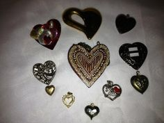 Vintage Valentine Charm Lot Hearts Valentine by TheIDconnection, $15.00