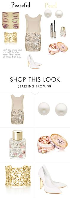 """Peaceful Pearl"" by directionerot ❤ liked on Polyvore featuring Dorothy Perkins, Reeds Jewelers, Lollia, Paloma Picasso and Casadei"