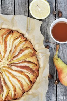 Rustikaler Birnenkuchen mit Muskat & Zimt
