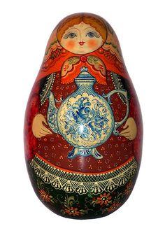 Matryoshka, Russian Nesting Doll. Time for Tea. http://www.pinterest.com/MatryoshkasSoap/one-of-a-kind-matryoshka/