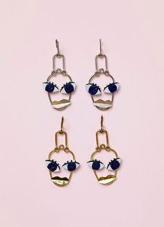 Céline - Patchwork Face Earrings
