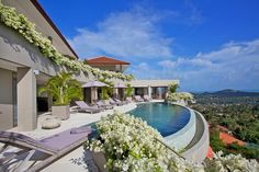 Villa to rent in Koh Samui, Thailand with private pool Hillside Villas, Koh Samui Thailand, Tropical Architecture, Modern Tropical, Property For Rent, Private Pool, France, Hotel Offers, Swimming Pools
