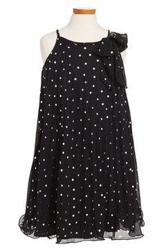 Zunie Polka Dot Trapeze Dress (Little Girls & Big Girls) available at #Nordstrom