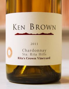 2011 Ken Brown Santa Rita Hills Rita's Crown Vineyard Chardonnay Santa Barbara County, In Vino Veritas, Wine Recipes, Wines, Vineyard, Funny Stuff, Crown, Bottle, Food