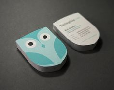 I'm in love with these business cards! #owl