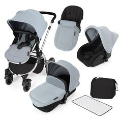 Ickle Bubba Stomp v2 All In One Travel System in Silver Kiddicare.com